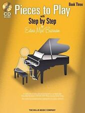 PIECES TO PLAY WITH STEP BY STEP, BOOK 3 - BURNAM, EDNA MAE (COP) - NEW PAPERBAC