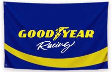GoodYear Racing Flag Banner 3 x 5 ft Vintage Tires Race Car Nascar Hat