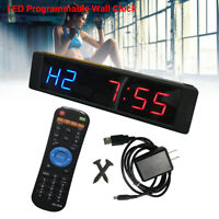Programmable LED Display Clock Training Countdown + Remote For Fitness Gym Yoga