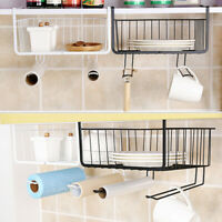 Kitchen Storage Basket Rack Table Wire Mesh Under Shelf Cabinet Organizer Holder