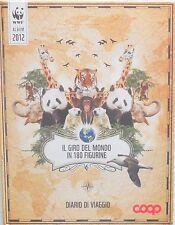 ALBUM FIGURINE WWF IL GIRO DEL MONDO IN 180 FIGURINE DIARIO DI VIAGGIO COMPLETO