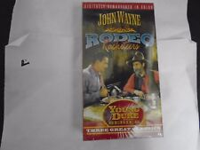 NEW VHS! 3 WESTERNS - RODEO RACKETEERS CLAIM JUMPERS THE SHADOW GANG