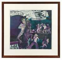 "Warrington Colescott George the Wonder Horse Signed Art ""Huge Framed Print"""