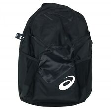 "New ASICS Edge II Backpack Soft Lined - Padded - Fits 15"" Laptop - Black ZR3434"
