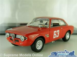 ALFA ROMEO GIULIA SPRINT GTA MODEL CAR 1965 RED 1:43 SCALE IXO + CASE K8
