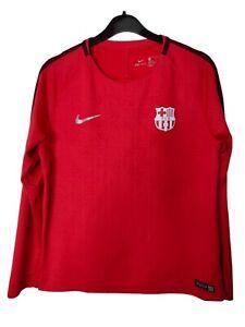 NIKE DriFit FC Barcelona Skills Top Football Training XL 13-15 Years 158-170cm