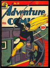 Adventure Comics #59 Very Nice Early Golden Age DC Superhero Comic 1941 GD+
