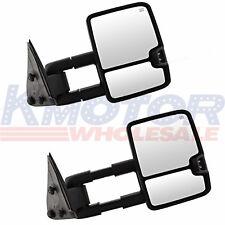 Chevy Silverado Sierra Towing Mirrors Power Heated LED Signals Pair 03-06 Black