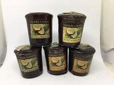 Yankee Candle 5x Coconut & Vanilla Bean 49g Votives USA EXCLUSIVE VERY RARE