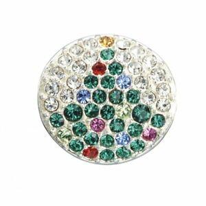 Noel tree Green & Fuchsia Swarovski Crystal Charm - RRP £50.00