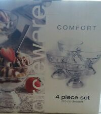 Comfort 4 piece set 8.5 ounce dessert dishes - Brand New in the Box