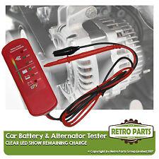 Car Battery & Alternator Tester for Renault Clio. 12v DC Voltage Check