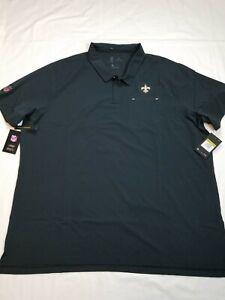 Nike Men's New Orleans Saints Performance Polo Shirt Black AO3889-010 Szize 4XL