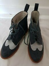 Dr Marten Navy And Pale Blue Bentley Brogue Boots Size 4/37