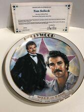 1989 Tom Selleck Hollywood Walk of Fame Danbury Mint Plate