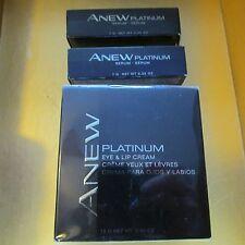 3 PIECES!~AVON~Anew~PLATINUM~2-SERUM~.25 Oz Each~1-Eye & Lip Cream~NEW