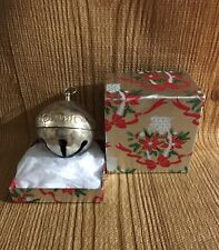 Wallace Silver plate Christmas Sleigh Bell Ornament 1988 Eighteenth 18th Edition