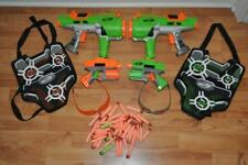 NERF Dart Tag Bundle Hyperfire Crossfire Blasters Guns Vests Glasses 30 + Darts