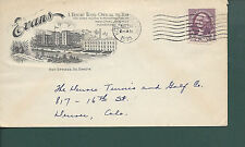 """HOT SPRINGS,SOUTH DAKOTA 1935  """"The Evans"""" A resort Hotel-Open all the Year."""