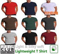 PRO CLUB LIGHTWEIGHT T SHIRTS PROCLUB MEN'S PLAIN SHORT SLEEVE UNDERSHIRTS S-5XL