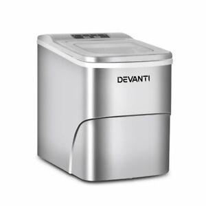Devanti Portable Ice Maker Commercial Machine Ice Cube 2L Bar Countertop Silver