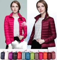 2019 Hot Sale Womens 90% Down Jacket Puffer Coat Warm Outdoor Packable Parka SZ
