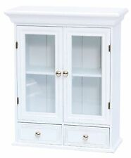 Wall Cabinet Wardrobe Glass Door Wood White Cottage Cottage Attachment Key Box