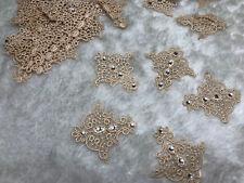 5pcs Oat Retro Lace Embroidery Applique Motif Earring 5*5.5cm Embellishment