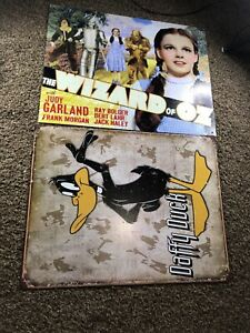 Wizard of Oz and Daffy Duck Metal Sheet Posters