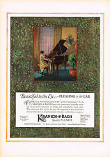 1920s BIG Original Vintage Kranich Bach Piano Art Print Ad