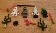Lego Halloween minifigure lot skeletons, green monsters, spider, snake, fire