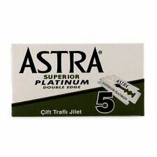 ASTRA Superior Platinum Double Edge (DE) Razor Blades 5 Blades