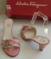 FERRAGAMO Designer Italy Pink Slip On Pumps Heels Size US 6.5 UK 4 EU 37