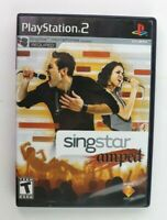 PS2 SingStar Amped (Sony PlayStation 2, 2007) Complete Tested