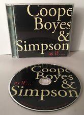 COOPE BOYES & SIMPSON CD - as if... CD NMCD35 CD Album 2010
