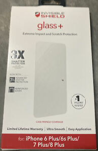 ZAGG Glass Screen Protector Invisible Shield for Apple iPhone 8 Plus, 7Plus.