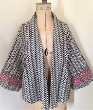 Ladies Zara W&B Azteco Nero Bianco Manica Kimono Giacca EUR M
