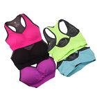 Women-Seamless-Racerback-Sports-Bra-Yoga-Padded-Stretch-Workout-Top-Tank-C