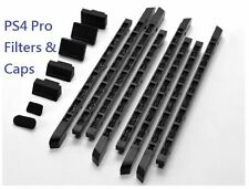 New Prevent Dust Filters & Soft Caps for SONY PS4 Pro & Controller (Black)