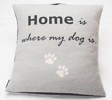 David Fussenegger Hundekissen ohne Füllung Home is where my dog is  70 x 70 cm