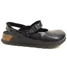 Alpro Birkenstock 2 Strap Clogs Sandals Mules Black Leather Germany Size 230 L5