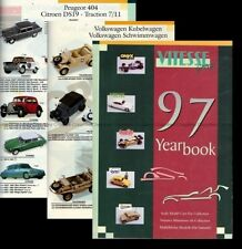 CATALOGUE VITESSE 1997 - ONYX QUARTZO CITY VICTORIA TRABANT VW PORSCHE 1/43 1/18