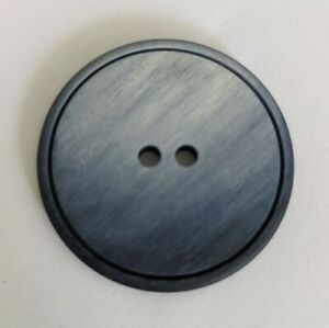"""Round Blue/Gray Marbled 2-hole Button - 1 3/8"""""""