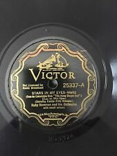 """RARE 78RPM 10"""" VICTOR 25337 RUBY NEWMAN ORCHESTRA STARS IN MY EYES/MADLY IN LOVE"""