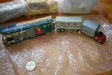 Vintage SSS-SIE Toys (Japan) # 1956 Large Tin Tractor Trailer GNU with BOX