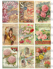 FURNITURE DECAL DIY SHABBY CHIC FRENCH IMAGE TRANSFER VINTAGE SEED PLANT LABELS