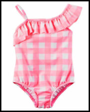 Carter's Toddler Girls Pink 1-Piece Check Gingham Swimsuit UPF 50+ 2T 3T 4T NWT
