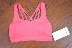 NWT Lululemon Free To Be Serene Bra Blush Coral With Pads Women's 6