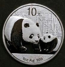 2011 Silver 999 Panda 10 Yuan 1 oz Silver Chinese Mint Bank Of China 40 MM Coin