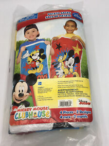Mickey Mouse Clubhouse Potato Sacks-Party Game Accessory 1 Pack (4 Count) NEW